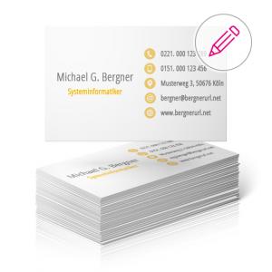 businesscard einseitig bedruckt