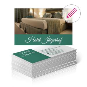 visitenkarten vorlage hotel